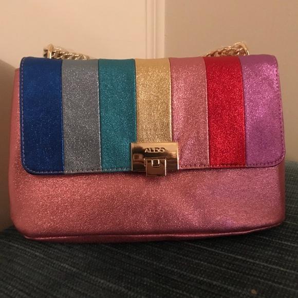 1e533f385 Aldo Bags | Rainbow Striped Crossbody Bag Brand New | Poshmark